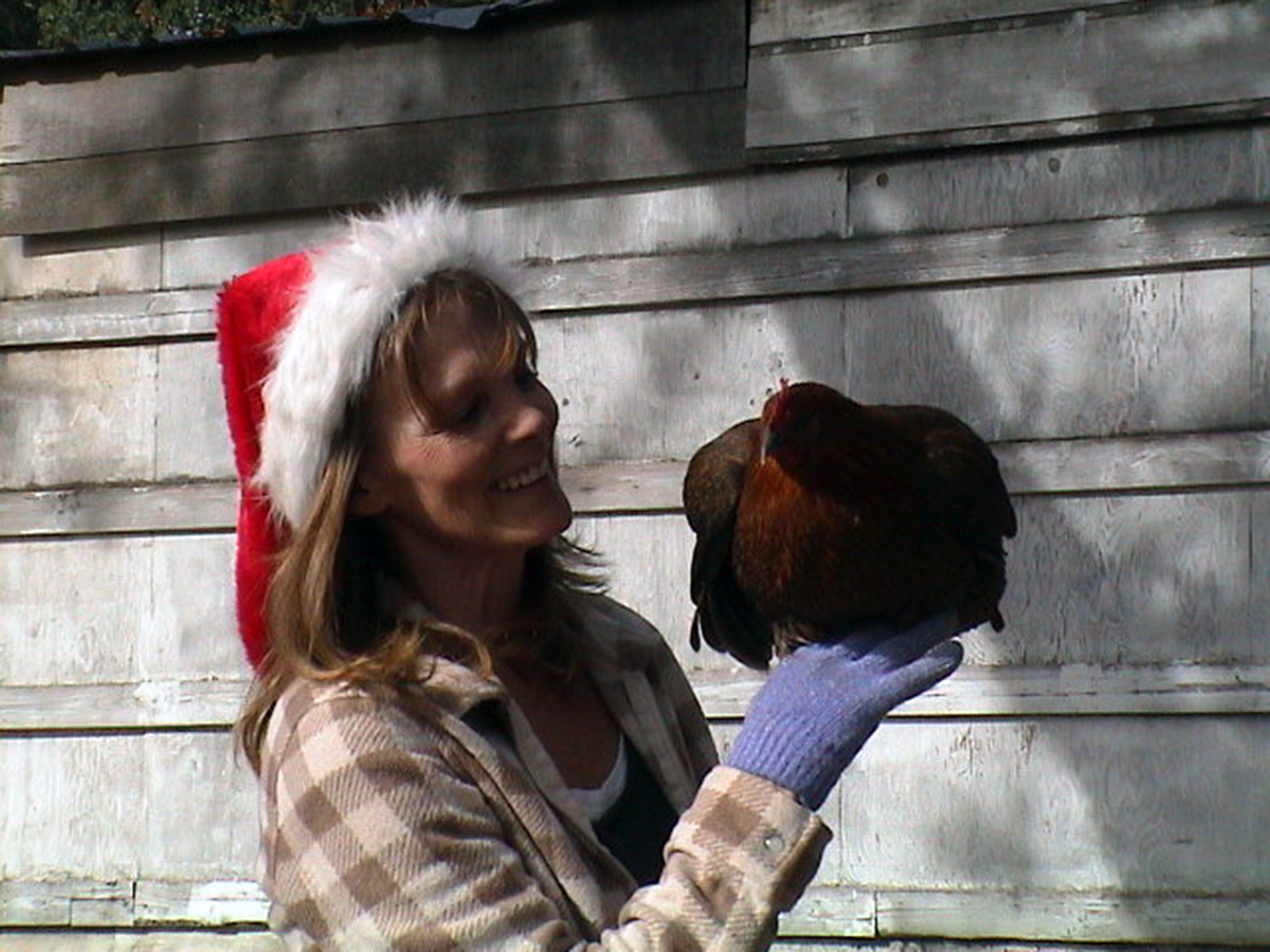 christmas_kathy_with_chicken